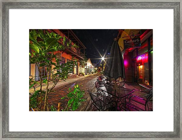 Nights In Oldtown Framed Print