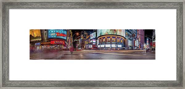 Nights On Broadway Framed Print