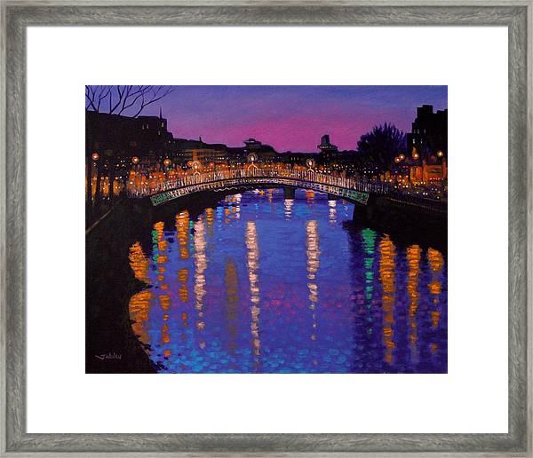 Nighttown Ha Penny Bridge Dublin Framed Print