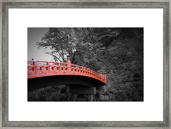 Nikko Red Bridge Framed Print