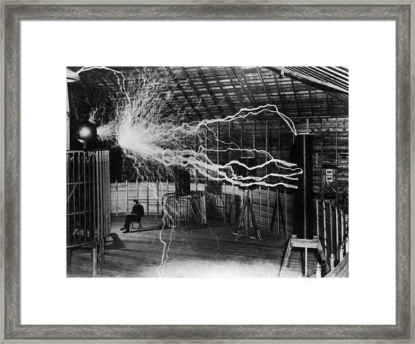 Nikola Tesla 1856-1943 Created A Double Framed Print