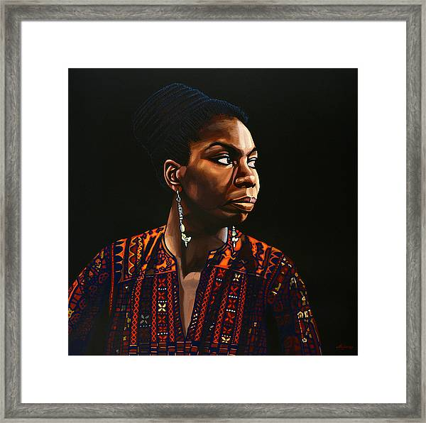 Nina Simone Painting Framed Print