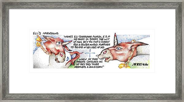 Niver Misdoubts Fpi Cartoon Framed Print