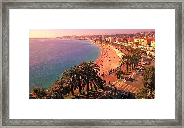 Nizza By The Sea Framed Print