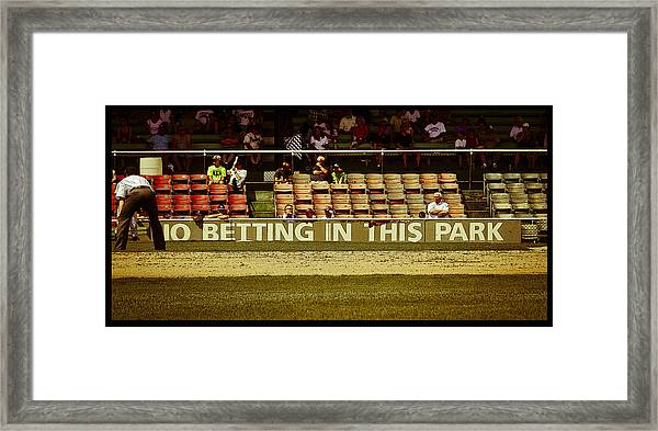 No Betting Poster Framed Print