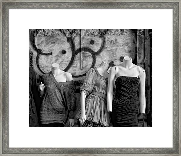 No Heads Are Better Than Three Framed Print