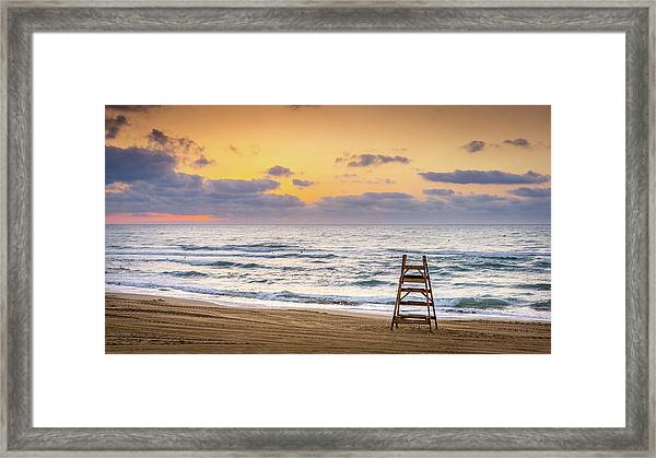 No Lifeguard On Duty. Framed Print