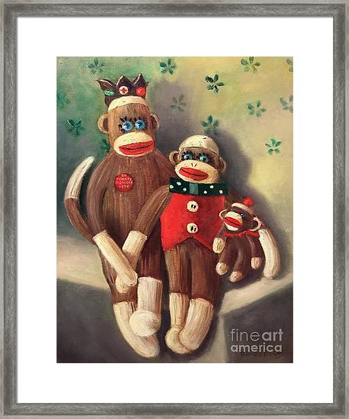 No Monkey Business Here 2 Framed Print