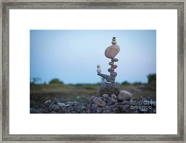 Zen Stack #2 Framed Print