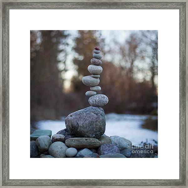 Zen Stack #3 Framed Print