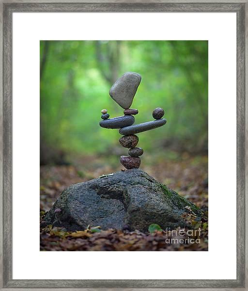 Zen Stack #5 Framed Print