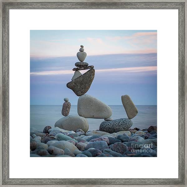 Zen Stack #7 Framed Print