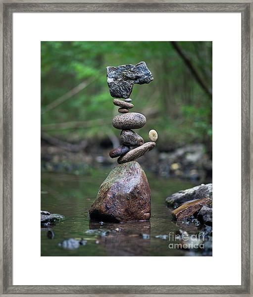 Zen Stack #8 Framed Print