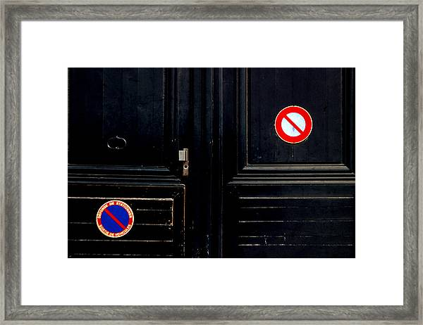 No No Framed Print by Jez C Self