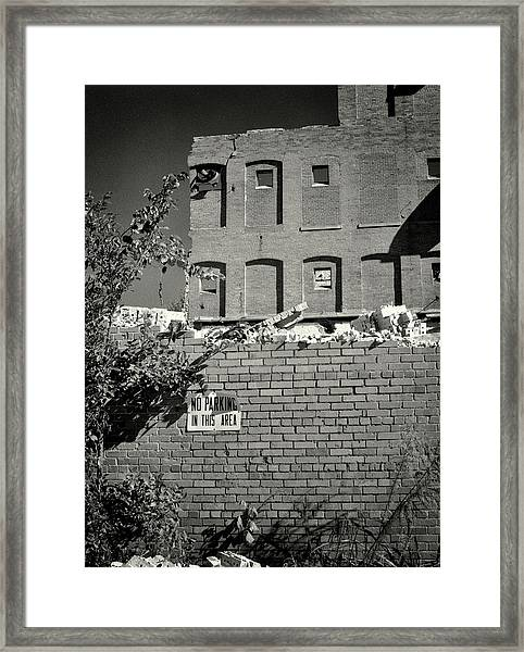 Framed Print featuring the photograph No Parking by Samuel M Purvis III