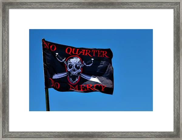 No Quarter No Mercy Framed Print