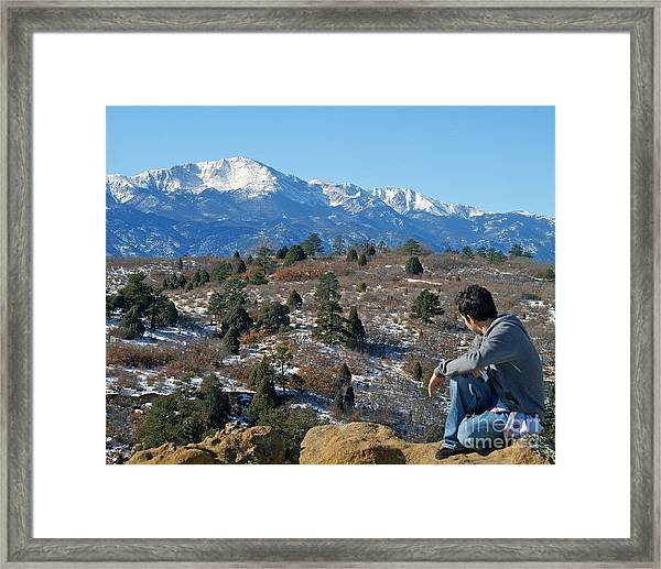 No Room But Has A View Framed Print