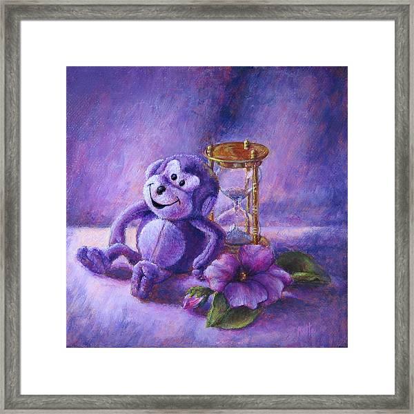 No Time To Monkey Around Framed Print