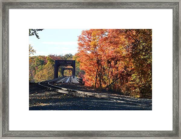 No Train Coming Framed Print
