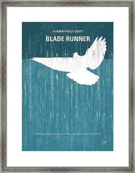No011 My Blade Runner Minimal Movie Poster Framed Print