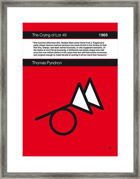 No023-my-the Crying Of Lot 49-book-icon-poster Framed Print