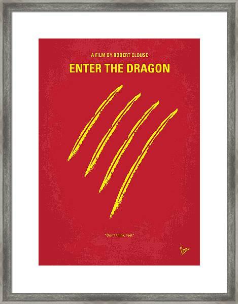No026 My Enter The Dragon Minimal Movie Poster Framed Print