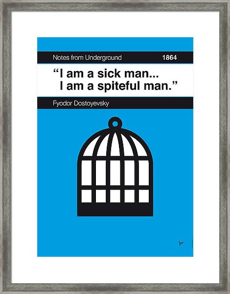 No031-my-notes From Underground-book-icon-poster Framed Print