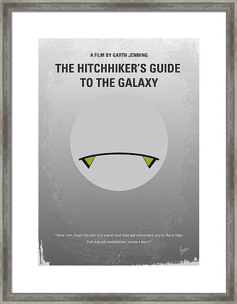 No035 My Hitchhiker Guide Minimal Movie Poster Framed Print