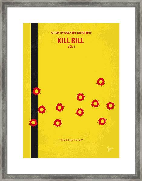 No048 My Kill Bill -part 1 Minimal Movie Poster Framed Print