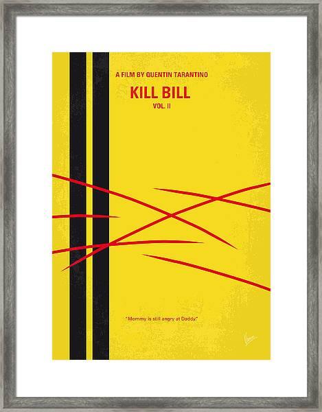 No049 My Kill Bill-part2 Minimal Movie Poster Framed Print