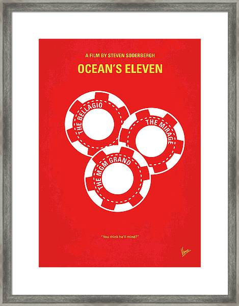 No056 My Oceans 11 Minimal Movie Poster Framed Print