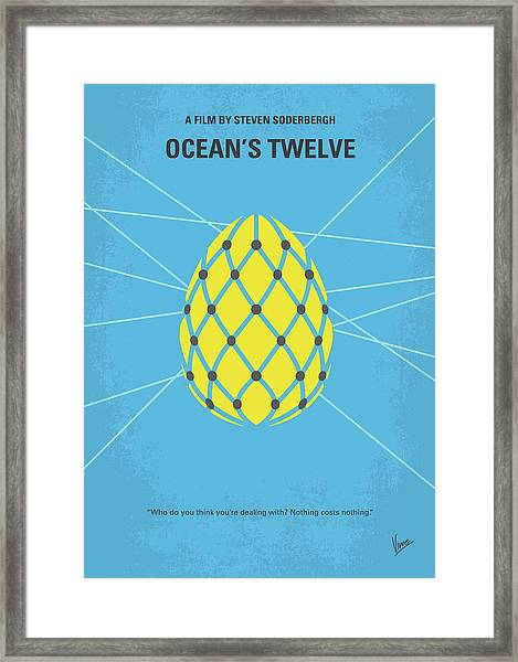 No057 My Oceans 12 Minimal Movie Poster Framed Print