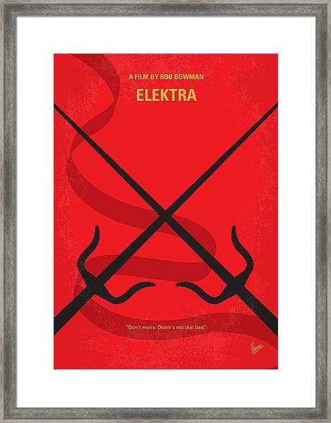 No060 My Electra Minimal Movie Poster Framed Print