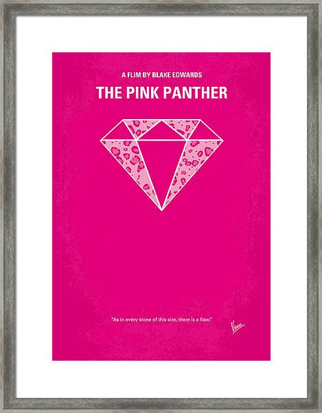 No063 My Pink Panther Minimal Movie Poster Framed Print