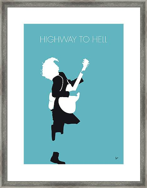 No065 My Acdc Minimal Music Poster Framed Print
