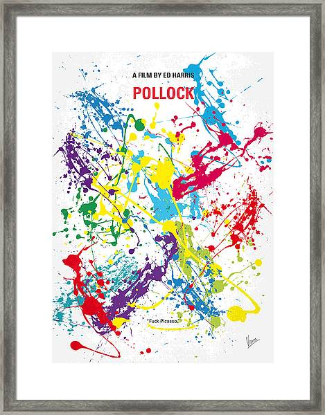 No065 My Polock Minimal Movie Poster Framed Print