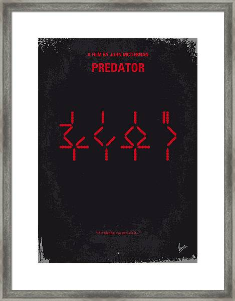 No066 My Predator Minimal Movie Poster Framed Print