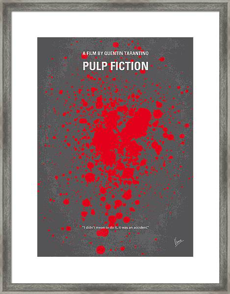 No067 My Pulp Fiction Minimal Movie Poster Framed Print