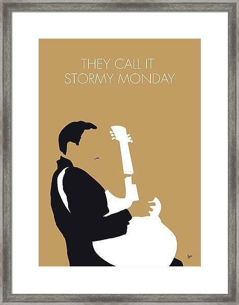 No070 My Tbone Walker Minimal Music Poster Framed Print