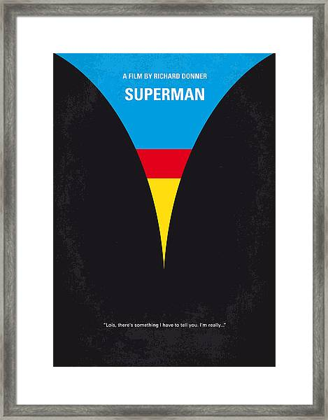 No086 My Superman Minimal Movie Poster Framed Print