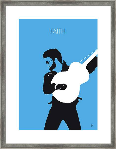 No089 My George Michael Minimal Music Poster Framed Print