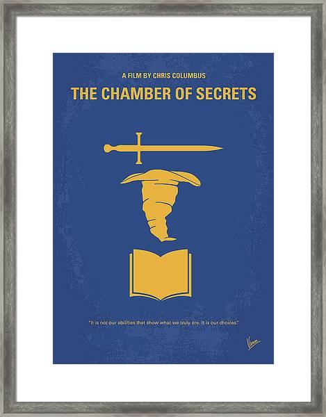 No101-2 My Hp - Chamber Of Secrets Minimal Movie Poster Framed Print