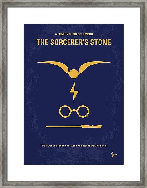 No101 My Harry Potter Minimal Movie Poster Framed Print