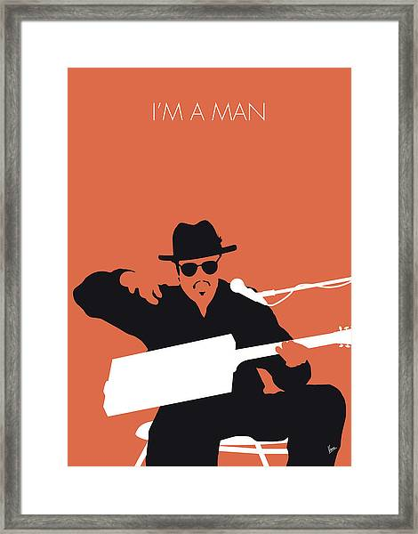 No103 My Bo Diddley Minimal Music Poster Framed Print