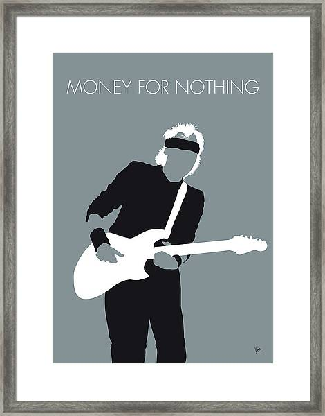 No107 My Mark Knopfler Minimal Music Poster Framed Print