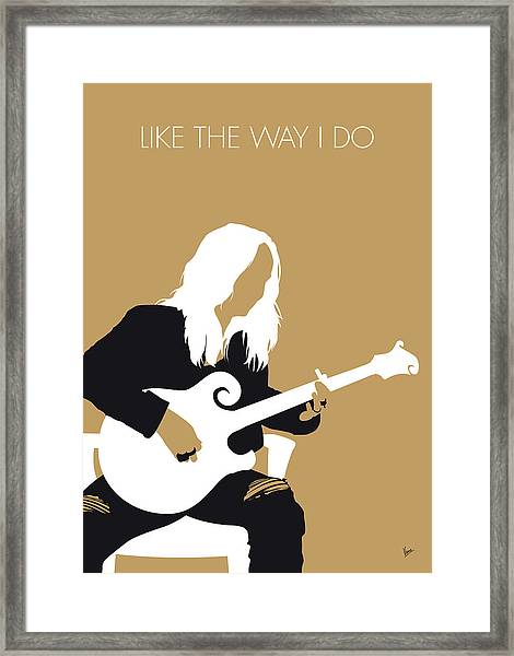 No110 My Melissa Etheridge Minimal Music Poster Framed Print