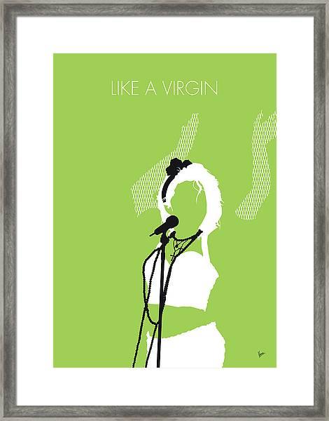No116 My Madona Minimal Music Poster Framed Print