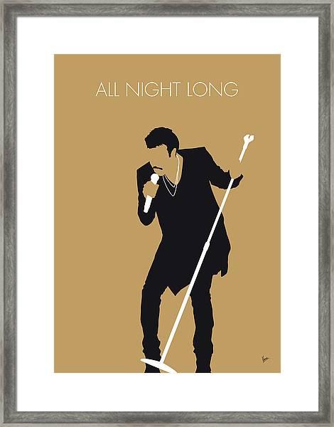 No130 My Lionel Richie Minimal Music Poster Framed Print