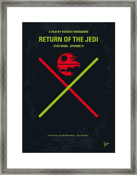 No156 My Star Wars Episode Vi Return Of The Jedi Minimal Movie Poster Framed Print