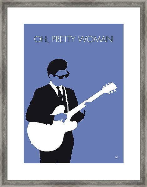 No158 My Roy Orbison Minimal Music Poster Framed Print